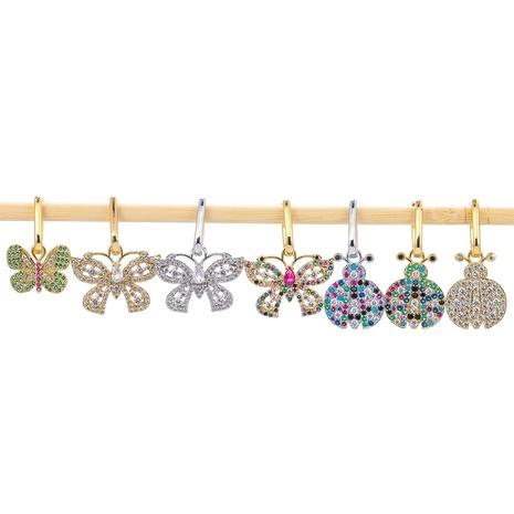 Korean fashion style butterfly earrings  NHWG357333's discount tags