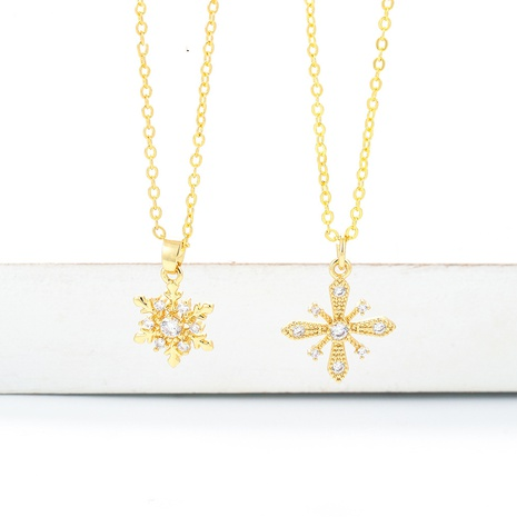 Korean style fashion sunflower clavicle chain necklace  NHWG357349's discount tags