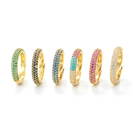 fashion color micro-inlaid diamond copper ring wholesale  NHWG357356's discount tags