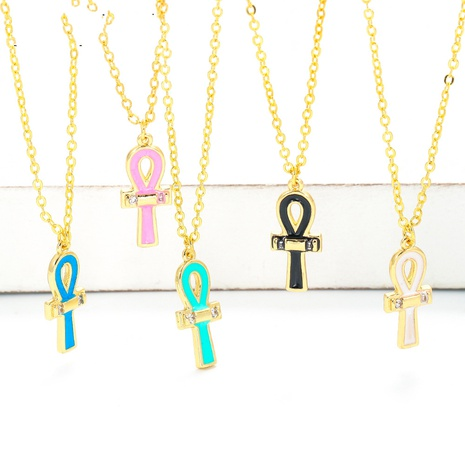 fashion simple clavicle chain cross pendant necklace  NHWG357367's discount tags
