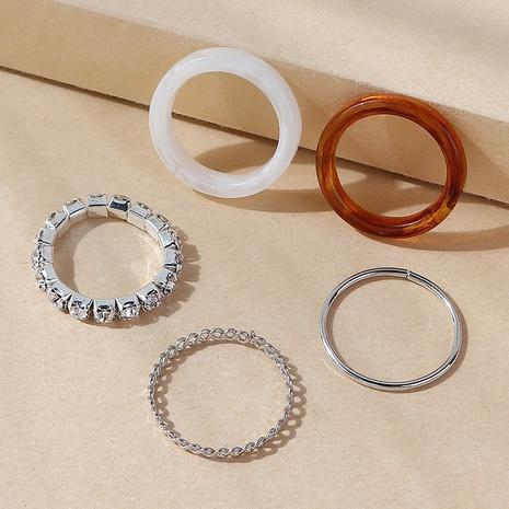 nuevo conjunto de anillos de resina creativa popular de moda NHPS357903's discount tags
