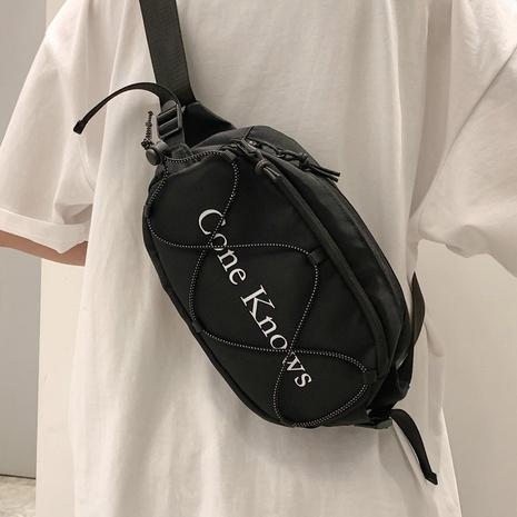 bolso de la cintura del pecho de la letra de la moda NHLH357918's discount tags