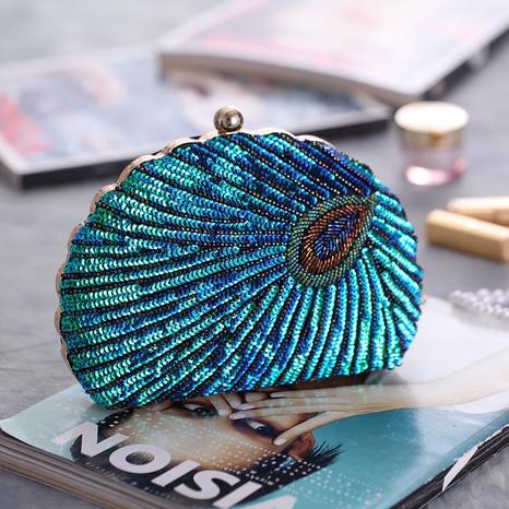Sac de soirée brodé de perles artisanales lourdes sac de soirée robe de soirée à paillettes NHYG358170's discount tags