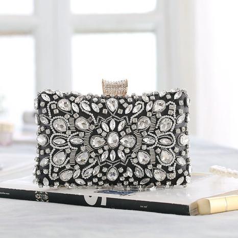Petit sac carré perlé de l'industrie lourde à la main du dîner rétro NHYG358172's discount tags