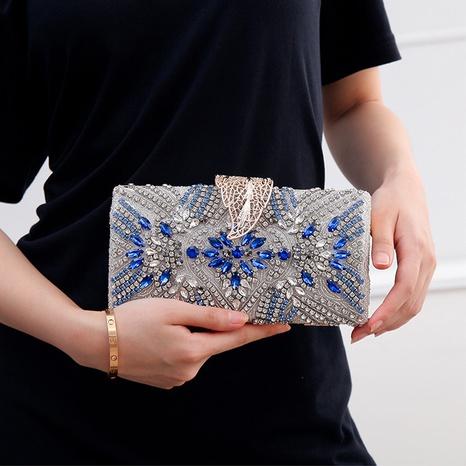 Pochette à boucle en acrylique à clous de diamant NHYG358173's discount tags