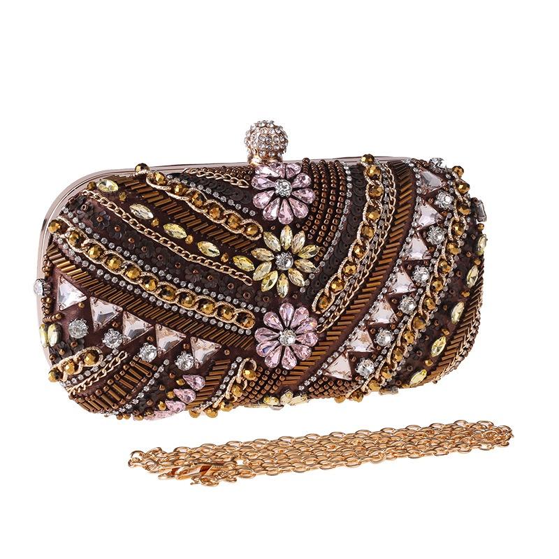 Dinner bag diamondstudded banquet bag hand holding evening bag wholesale NHYG358174