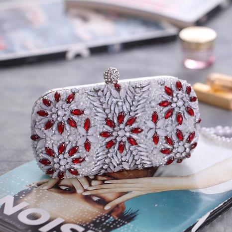 Pochette broderie sac de soirée clouté de diamants sac de banquet sac à main de mariée NHYG358175's discount tags