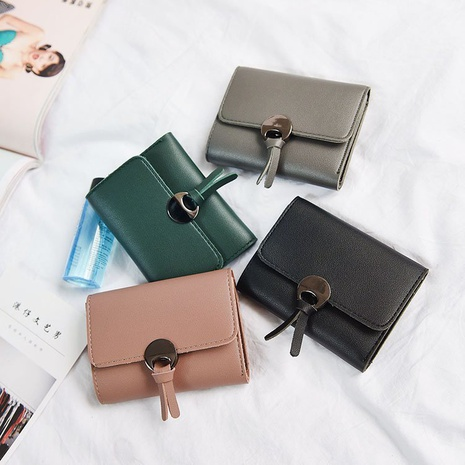 Portefeuille pu de couleur unie en gros porte-monnaie pour femmes NHAV358260's discount tags