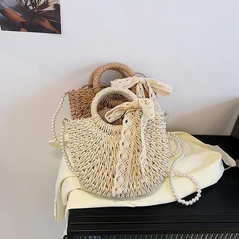 sac tissé en paille de messager à une épaule de mode NHAV358283's discount tags