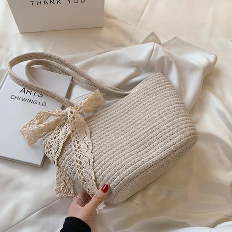 sac de paille portable à une épaule à la mode NHAV358284's discount tags