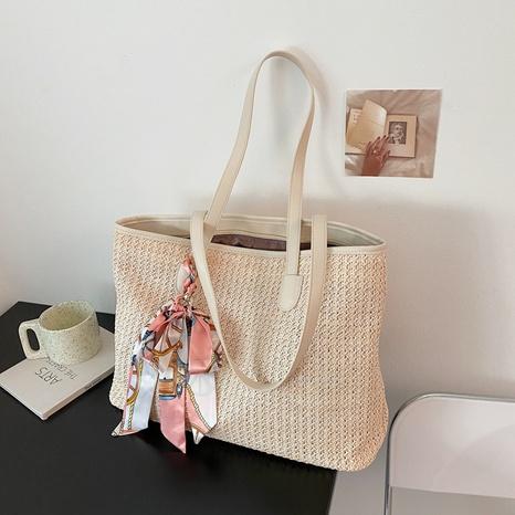 sac fourre-tout portable tissé simple de grande capacité NHAV358288's discount tags