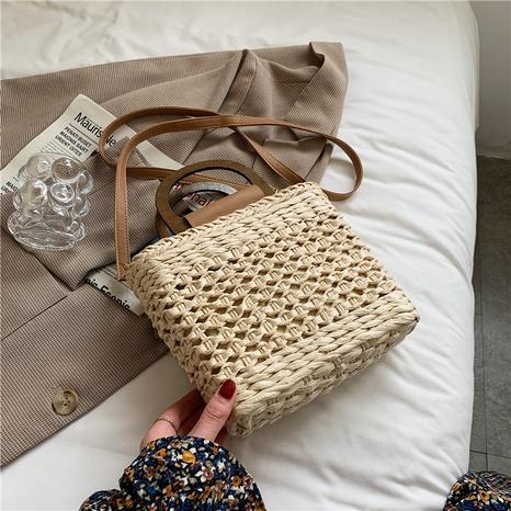 sac à bandoulière en paille tissée à la mode NHAV358293's discount tags