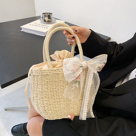 sac fourre-tout panier portable tissé à la mode NHAV358319's discount tags