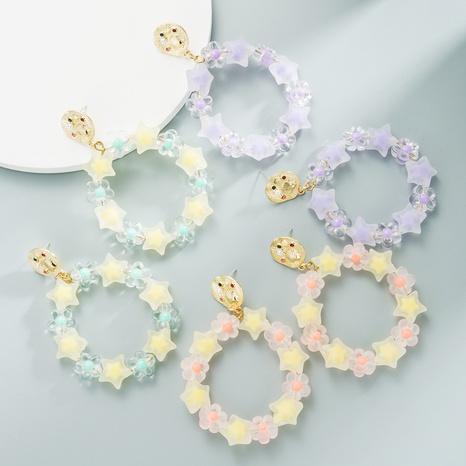 Boucles d'oreilles perles de fleurs faites à la main NHLN358348's discount tags