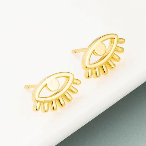 Boucles d'oreilles oeil de diable en cuivre plaqué or NHLN358347's discount tags