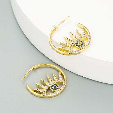 Boucles d'oreilles Evil's Eye en forme de C NHLN358343's discount tags