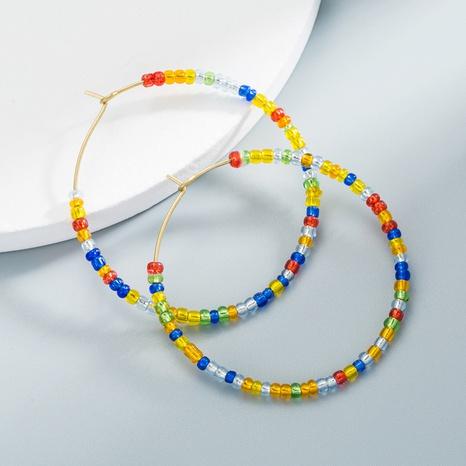 Boucles d'oreilles en perles en forme de C Boucles d'oreilles géométriques colorées NHLN358352's discount tags