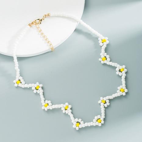 Collier court géométrique perles de riz bleu bohème accessoires femmes NHLN358357's discount tags