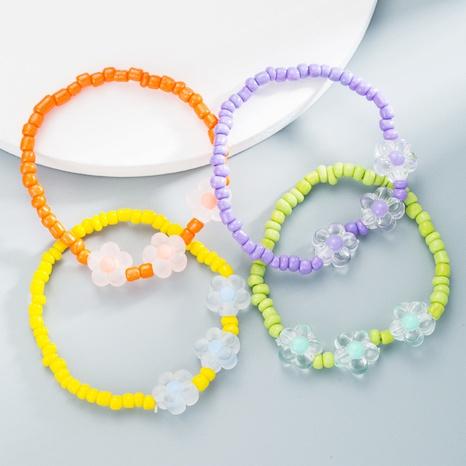 Bracelet coréen de fleurs en perles NHLN358356's discount tags