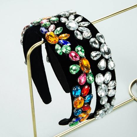 Accessoires de cheveux strass bandeau acrylique géométrique baroque rétro NHLN358361's discount tags