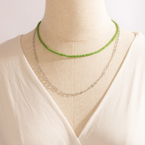 bohemian rice bead chain necklace NHGY361216's discount tags