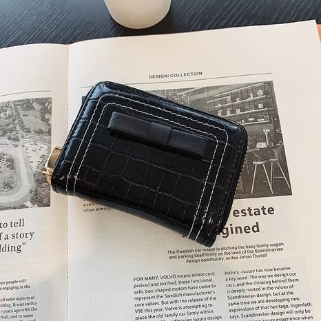 Porte-monnaie mode porte-cartes motif crocodile portefeuille court NHTG358411's discount tags