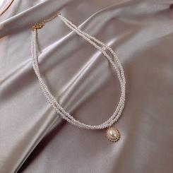 Mode neue einfache Stil Perlenkette NHOT345082