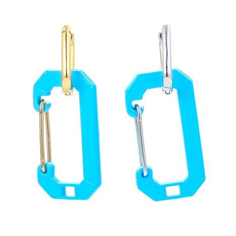 Boucles d'oreilles carrées en cuivre lisse à épingles de couleur rétro NHWG358831's discount tags