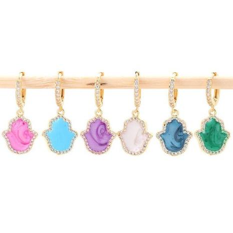 Boucles d'oreilles en cuivre géométrique pendentif coréen NHWG358869's discount tags