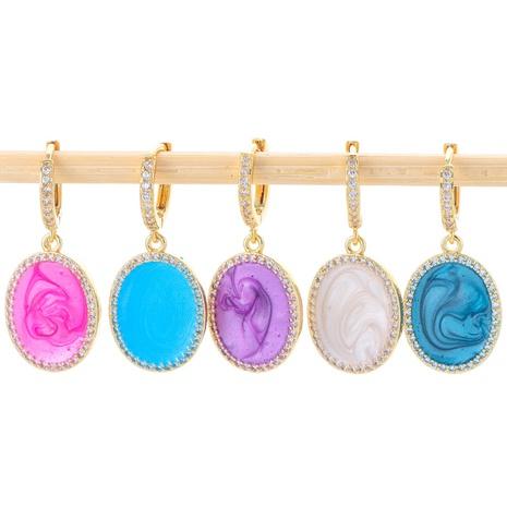 boucles d'oreilles rondes en émail à la mode NHWG358870's discount tags