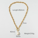 Baroque Freshwater Pearl Pendant Hollow 14K Gold Plated Necklace NHJIE359177