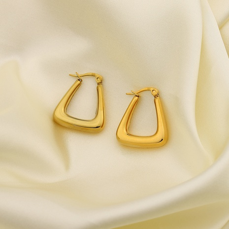 retro hollow gold-plated stainless steel geometric earrings  NHJIE359197's discount tags