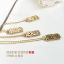 Fashio Painting Tarot Pendant Metal Necklace  NHJIF359306