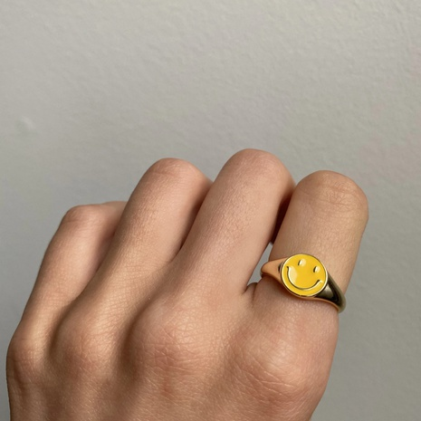 fashion smiley oil dripping ring  NHJIF359314's discount tags