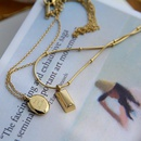 fashion geometric snake bone chain 18K gold titanium steel necklace NHJIF359323