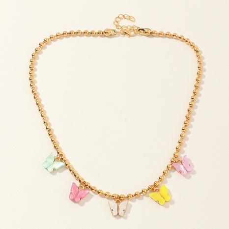 Collar de perlas de acrílico para niños, collar de niña de mariposa de acrílico NHNU359346's discount tags
