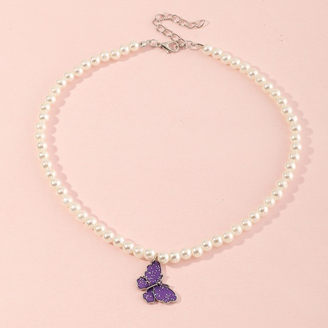 Collar para niños joyería mariposa colorida nebulosa de cinco puntas collar de placa de aleación de múltiples capas NHNU359350's discount tags