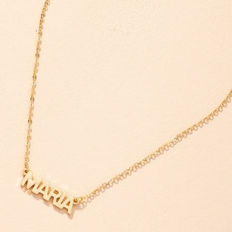 Collar con colgante de letra de moda cadena de clavícula para mujer NHAI359352's discount tags