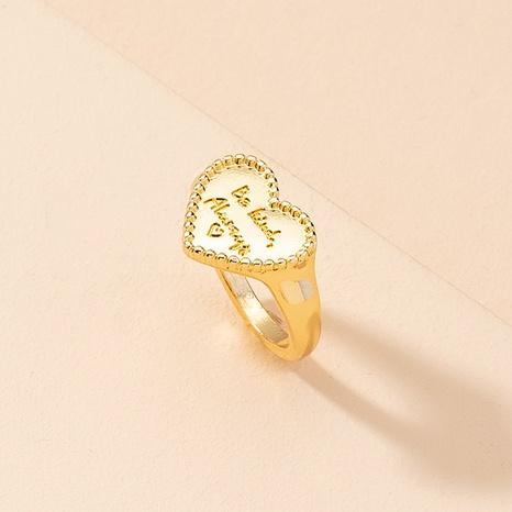 Anillos en forma de corazón de aleación de anillo de letra de amor coreano NHAI359354's discount tags