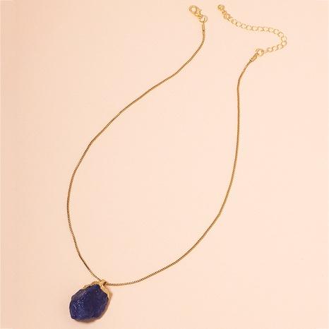 Collar colgante de piedras preciosas irregulares cadena de clavícula de piedra de hip hop NHAI359355's discount tags