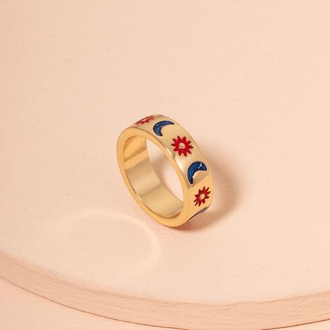 Anillo de hip-hop con anillo de sol de luna de moda para mujer. NHAI359360's discount tags