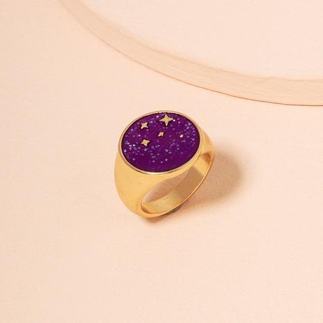 Anillos de mujer de hip-hop con anillo de estrella de cinco puntas de moda NHAI359363's discount tags