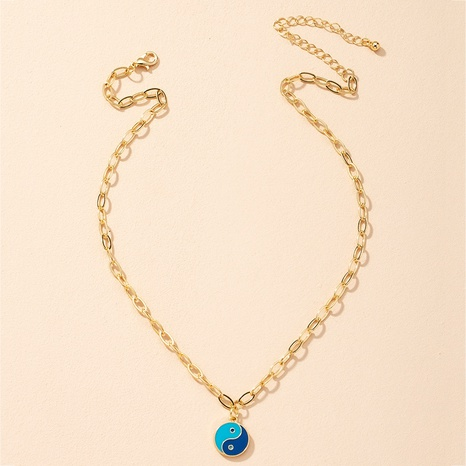 Collar colgante de chismes de Tai Chi de moda cadena de clavícula de hip-hop NHAI359365's discount tags