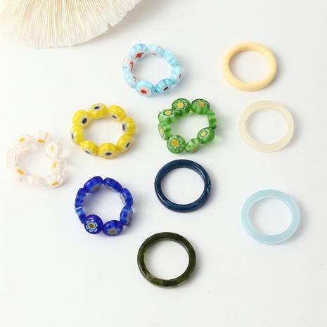anillo de cuentas de vidrio de colores anillos de mujer ajustables NHNZ359385's discount tags