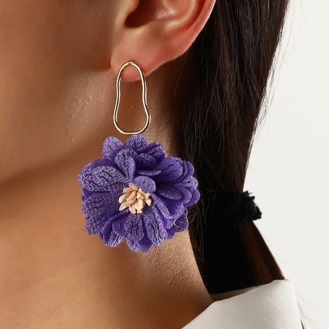 Pendientes de flores de tela Pendientes de verano para mujer al por mayor NHNZ359391's discount tags