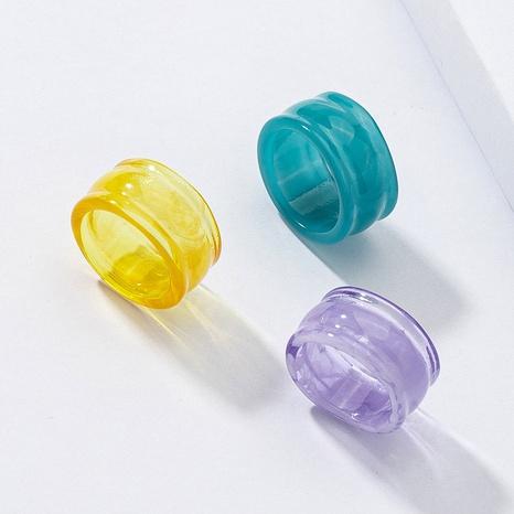 Conjunto de anillos de resina al por mayor conjunto de anillos de acrílico coloridos NHGU359402's discount tags