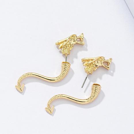 Pendientes de dragón pendientes exagerados al por mayor NHGU359403's discount tags