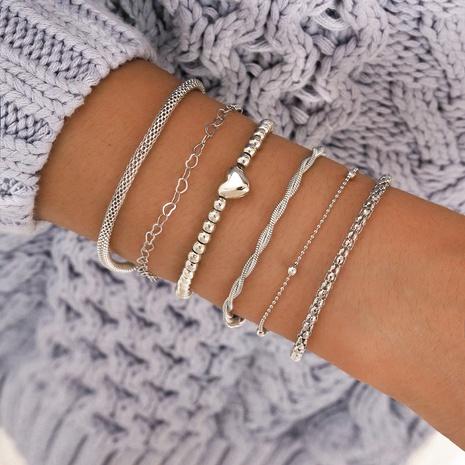 Conjunto de seis piezas de pulsera de cadena de amor de espinas simples de hip-hop NHPV359412's discount tags