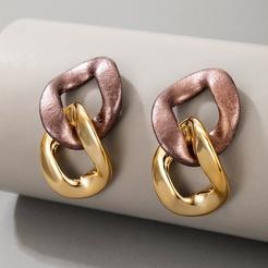 Mode neue einfache Stil Schnalle Ohrringe NHGY345056