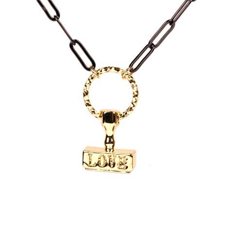 Hip-Hop Brief Anhänger Kupfer Halskette Großhandel NHPY344846's discount tags